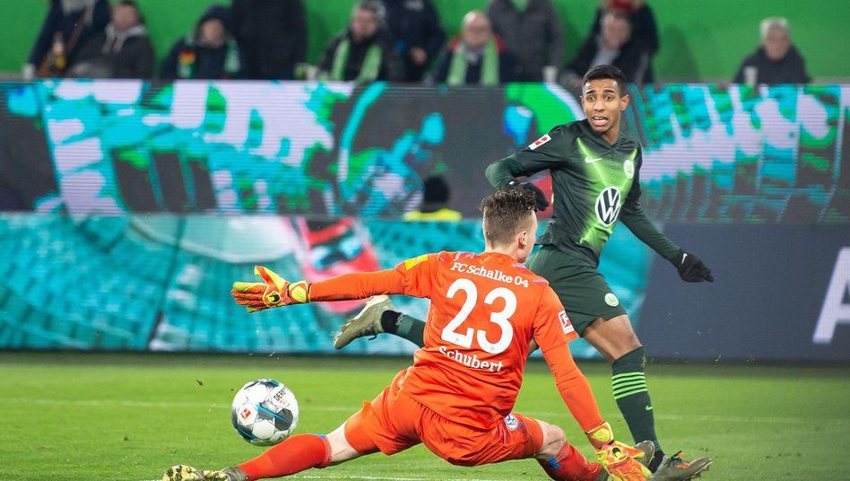 Schalkes Markus Schubert unterlief ein Fehler gegen Wolfsburg - und trotzdem überragte er