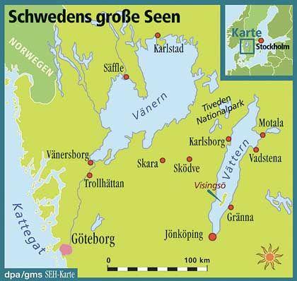 Sagenumwobenes Wasser: Ein wütender Riese soll die Seen Vänern und Vättern erschaffen haben