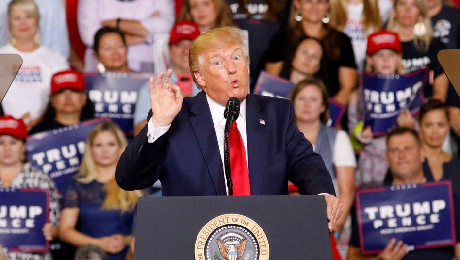 Donald Trump bei Rede in Greenville, North Carolina