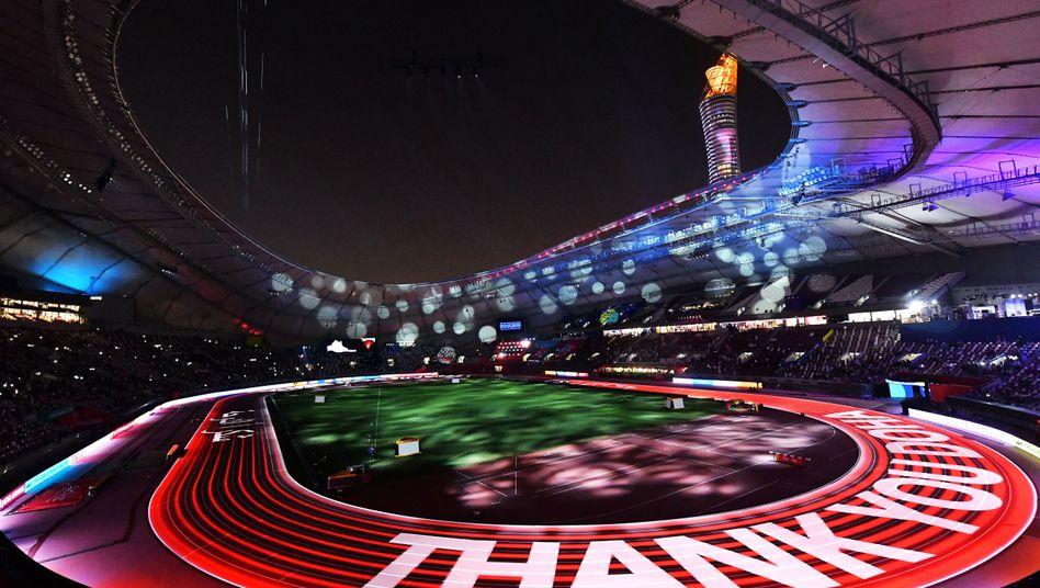 Abschlussfeier im Khalifa-Stadion in Doha