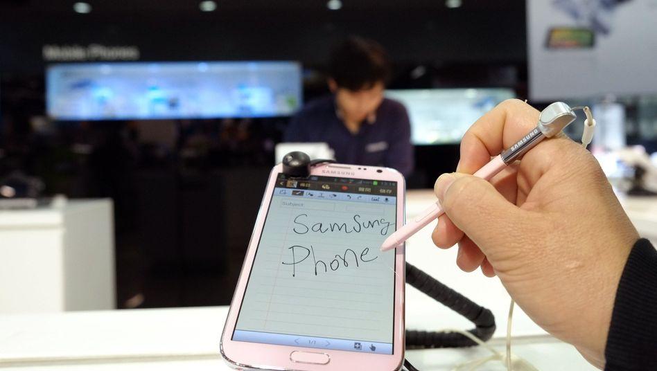 Smartphone von Samsung: Die Konkurrenz wurde angeblich schlecht geredet