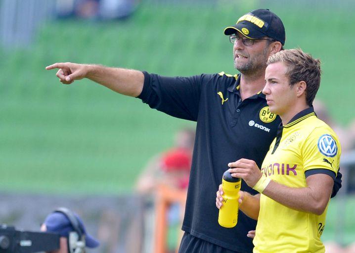 Götze mit Ex-Trainer Jürgen Klopp: Das Foto stammt aus dem August 2012