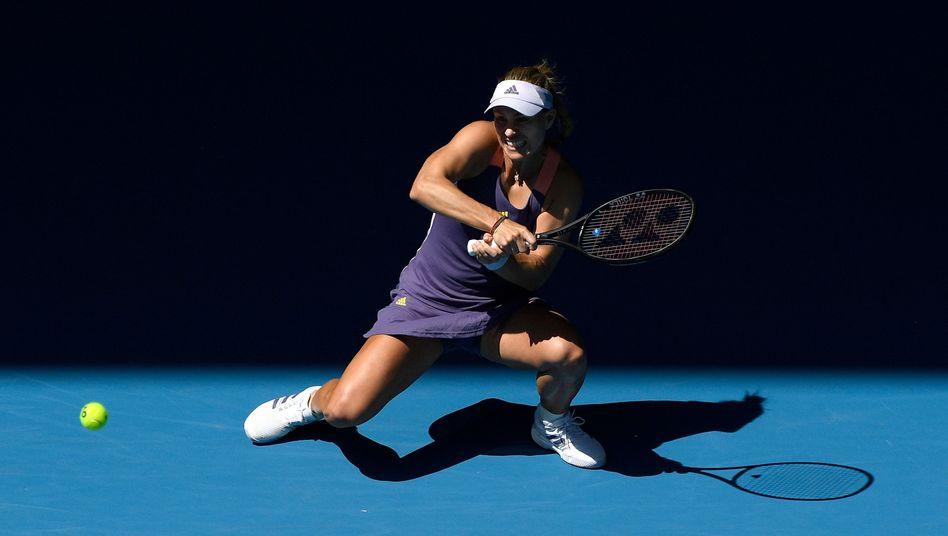"""Ich kann nicht mehr"": Kerber kämpft sich ins Australian-Open-Achtelfinale"