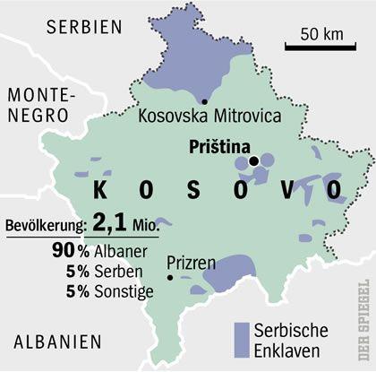 Serbische Enklaven im Kosovo