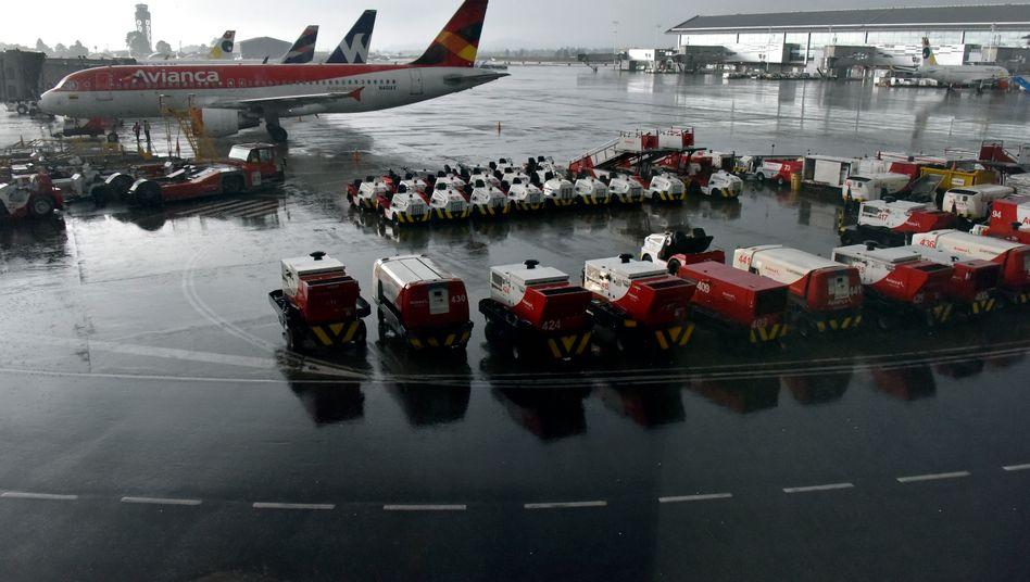Maschinen am Flughafen El Dorado in Bogotá (Archivbild)