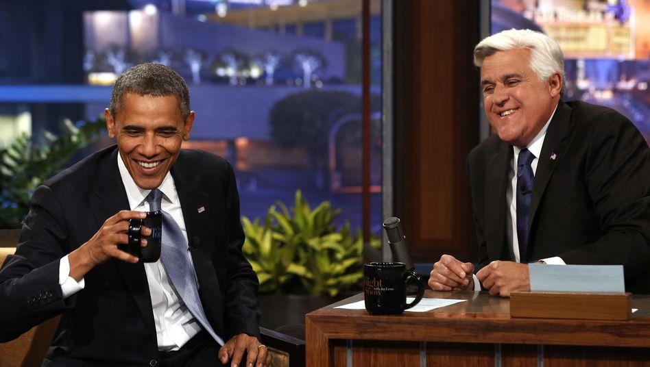 US-Präsident bei Jay Leno: Obama macht Spähaffäre zum Show-Programm