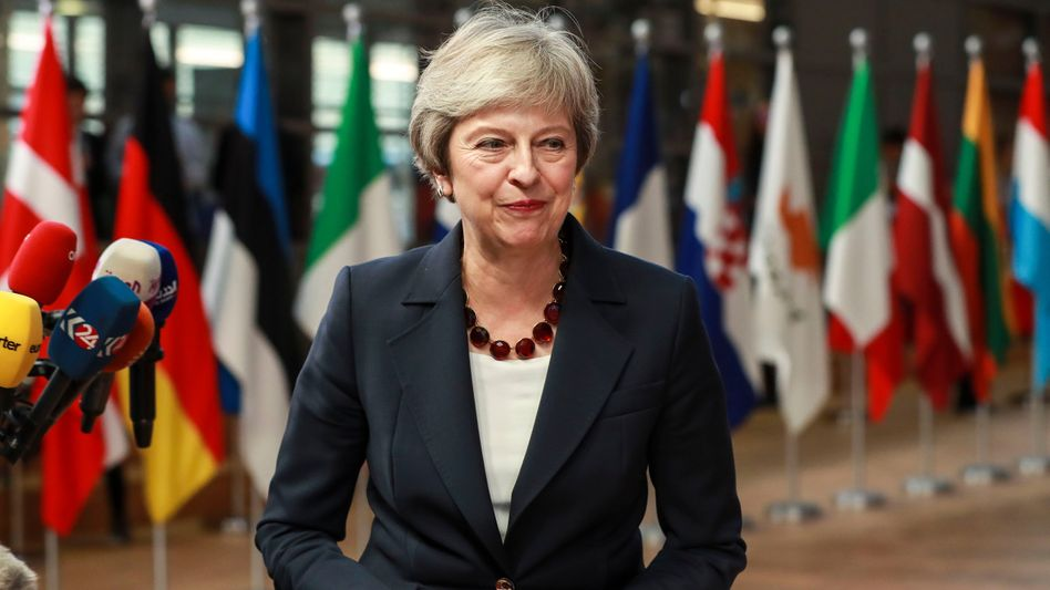 Theresa May beim Gipfel in Brüssel