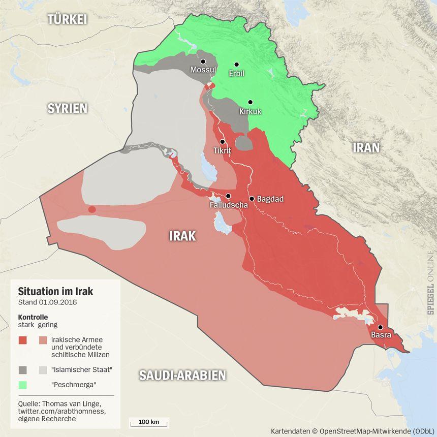 Grafik Karte Irak - 01-09-2016