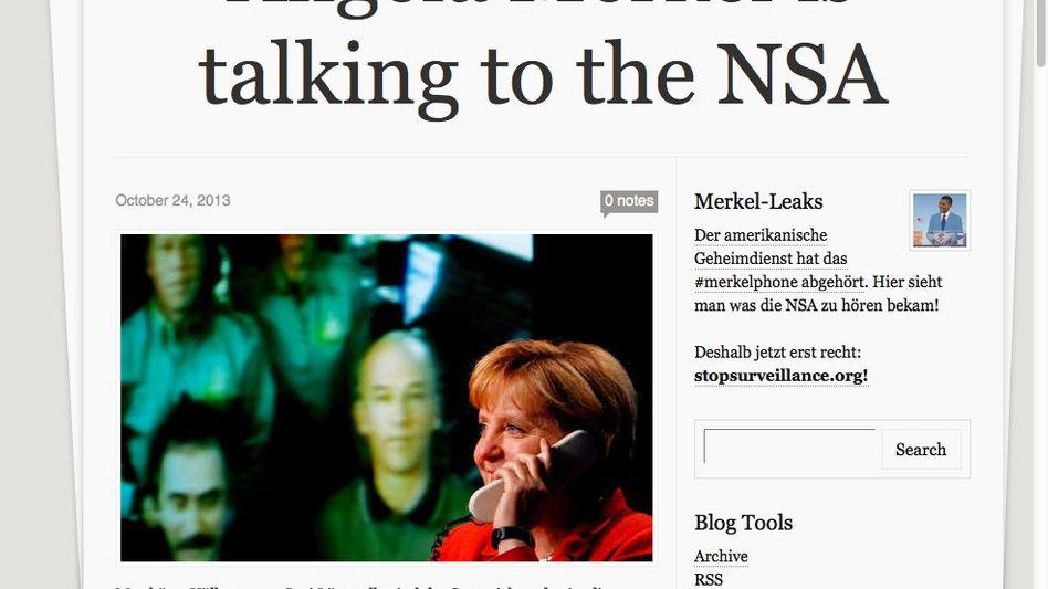 "Satirisches Tumblr-Blog: ""Merkel is talking to the NSA"""