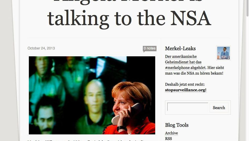 "Satirisches Tumblr-Blog: ""Merkel is talking to the NSA"""