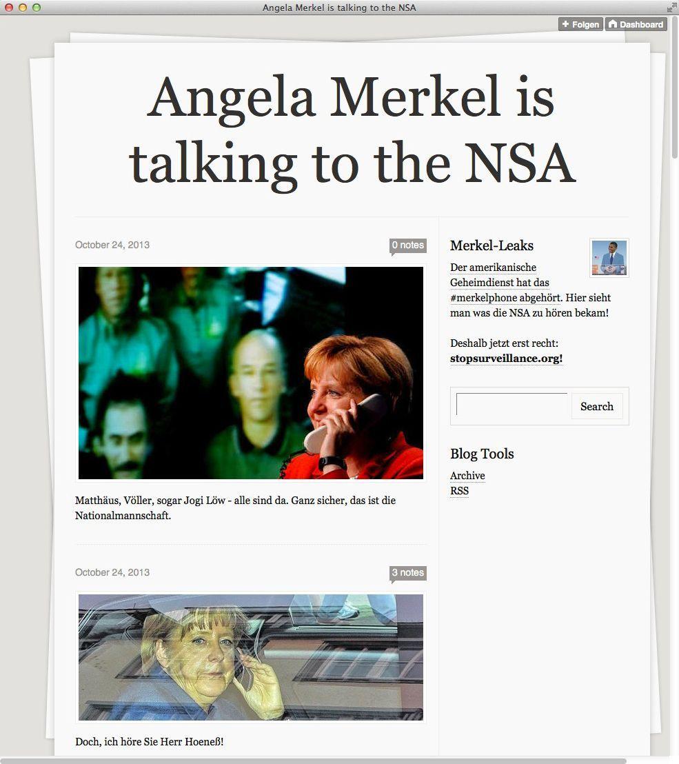 NUR ALS ZITAT Screenshot merkelphone.tumblr.com