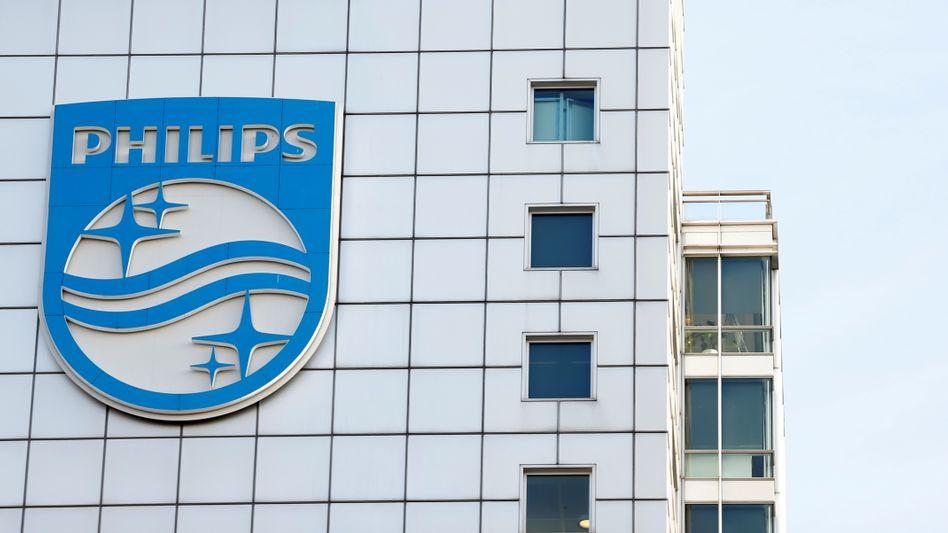 Philips-Zentrale in Amsterdam: Empfindlicher Rückschlag