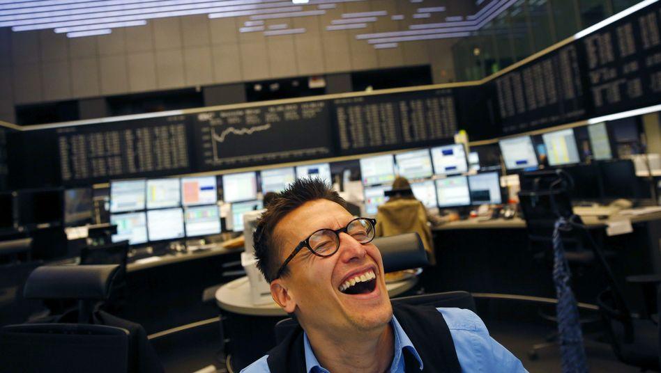 Händler in der Frankfurter Börse