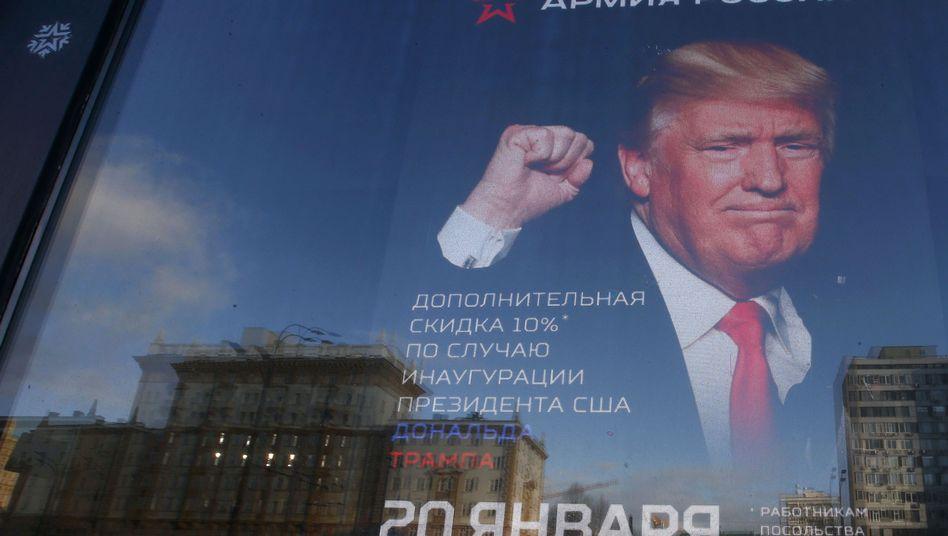 Diplomaten und US-Bürger erhalten in diesem Moskauer Shop zehn Prozent Rabatt, wenn sie Trump gewählt haben