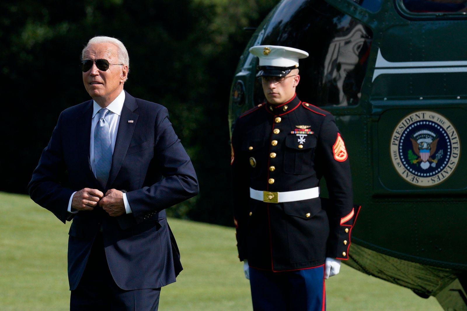 US President Biden returns from Philadelphia