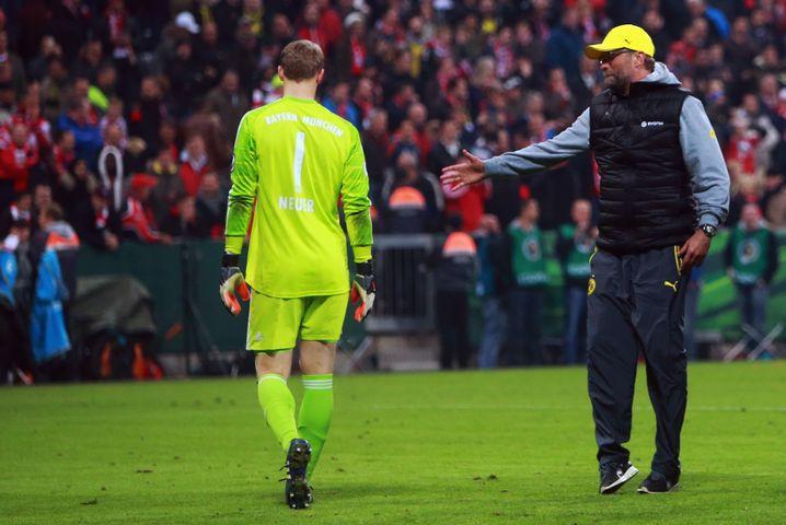 Bayern-Keeper Neuer, BVB-Coach Klopp: Verlierer und Sieger