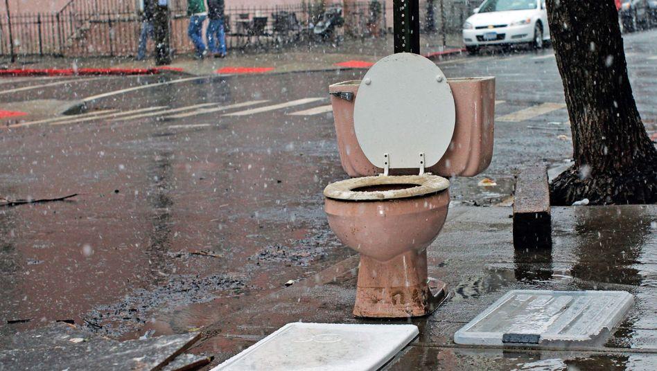 Toilettenvermittlung Airpnp: Bei voller Blase nicht im Regen stehen (Archivbild)
