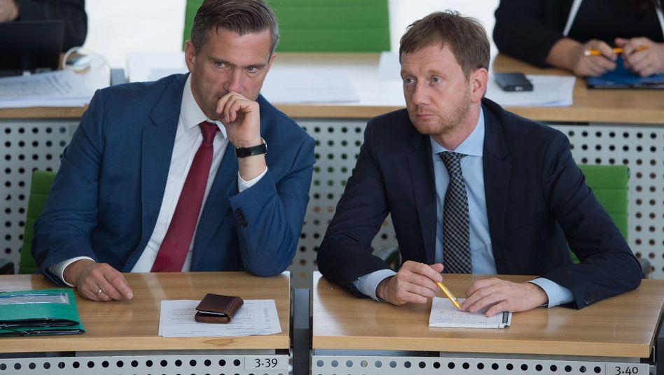Wirtschaftsminister Martin Dulig (SPD) und Ministerpräsident Michael Kretschmer (CDU)