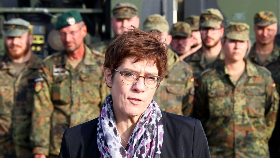 German Defense Minister Annegret Kramp-Karrenbauer has drawn critique and praise with her proposal for a security corridor in northern Syria.