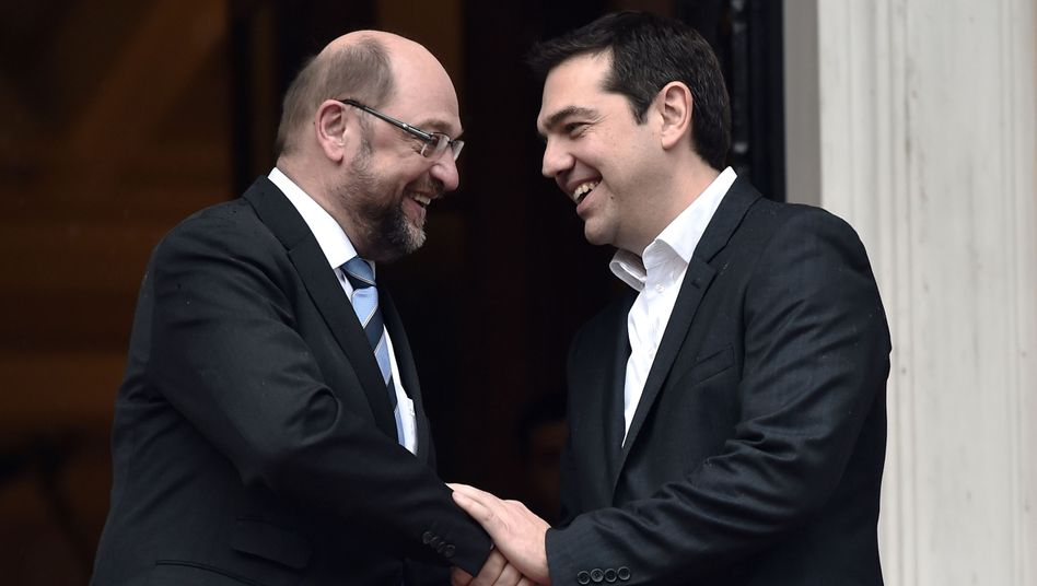 European Parliament President Martin Schulz visited newly elected Greek Prime Minister Alexis Tsipras late last week in Athens.