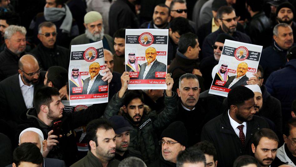 Erinnerung in Istanbul an Jamal Khashoggi (Archivbild).