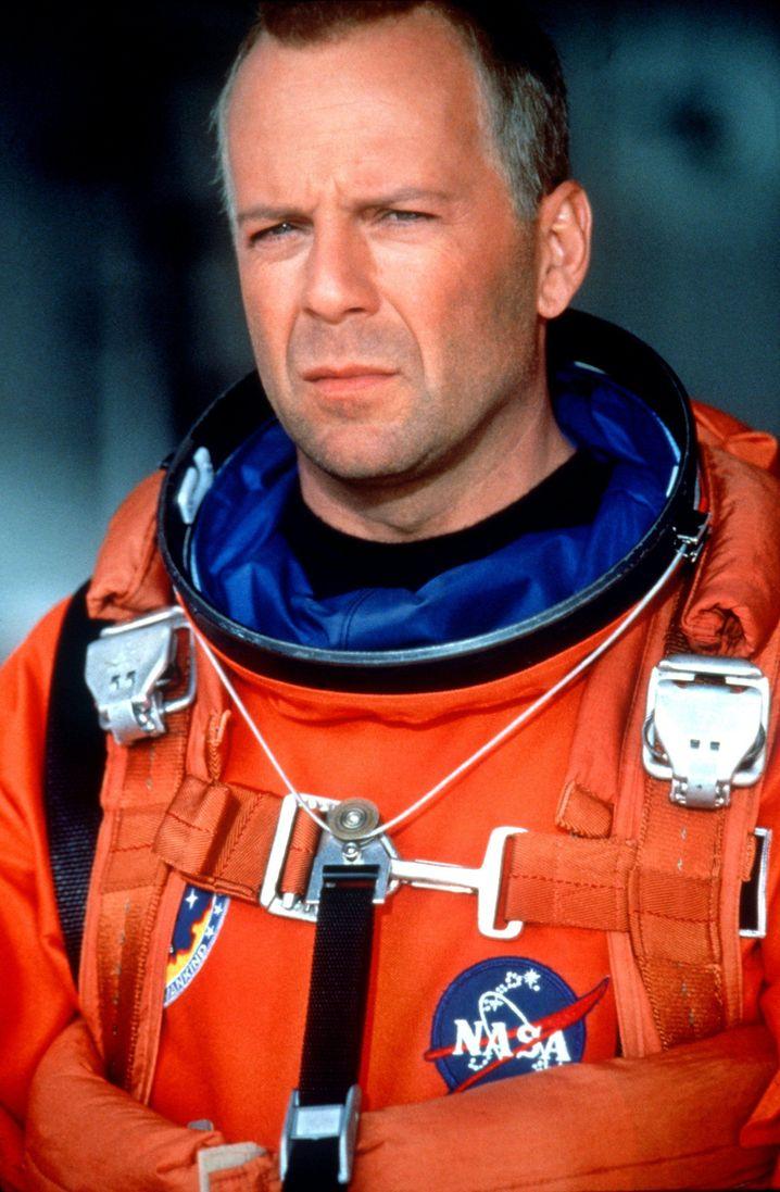 """Bruce Willis als Ölbohrexperte Harry S. Stamper im Film """"Armageddon"""" (1998)"""