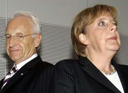 Bavarian political Godfather Edmund Stoiber has begun chipping at Merkel's power base.