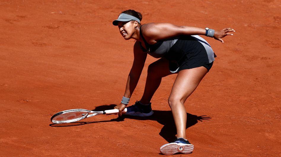 Naomi Osaka in der ersten Runde der French Open