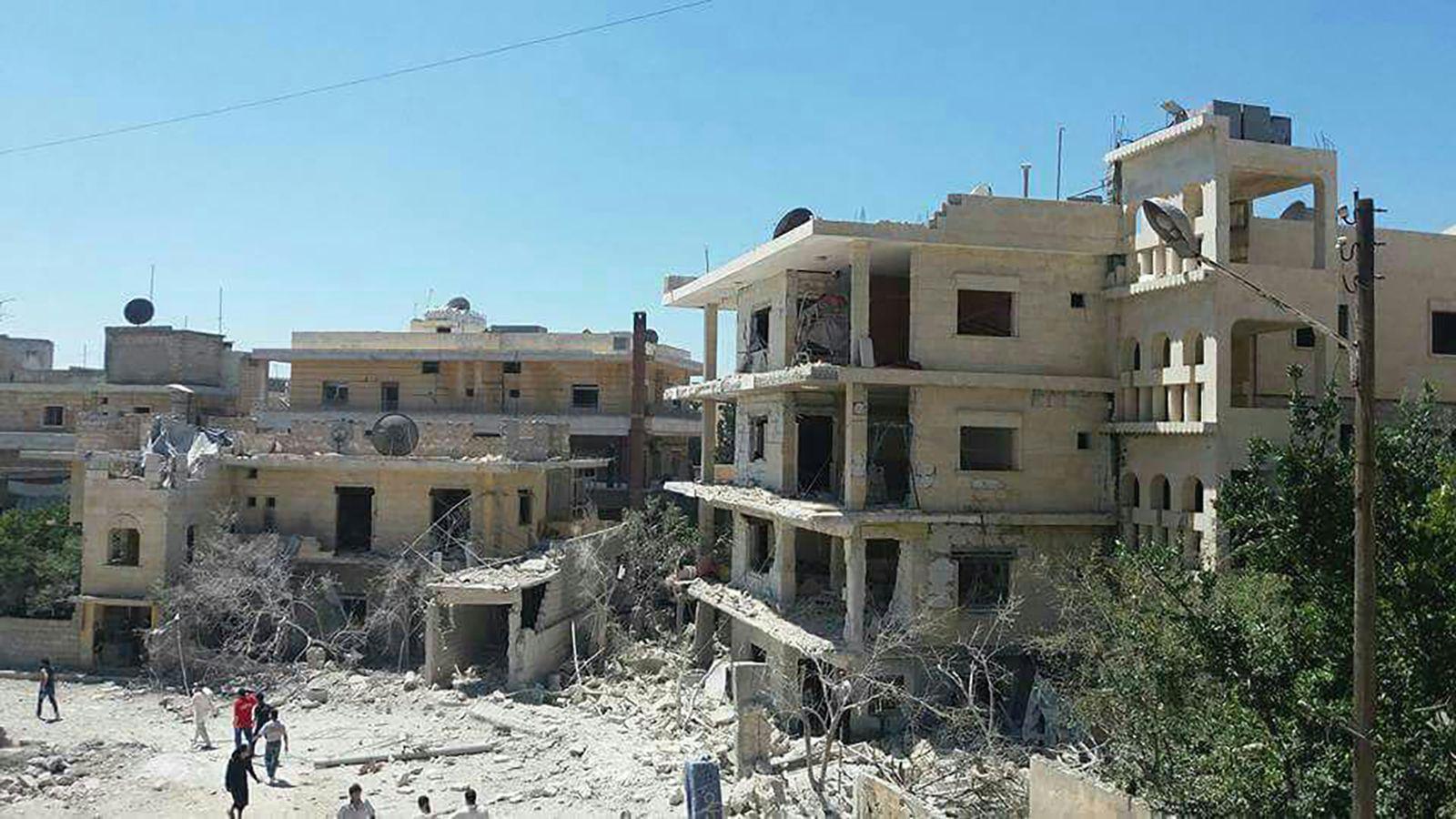Syrien/ Idlib/ Luftangriff