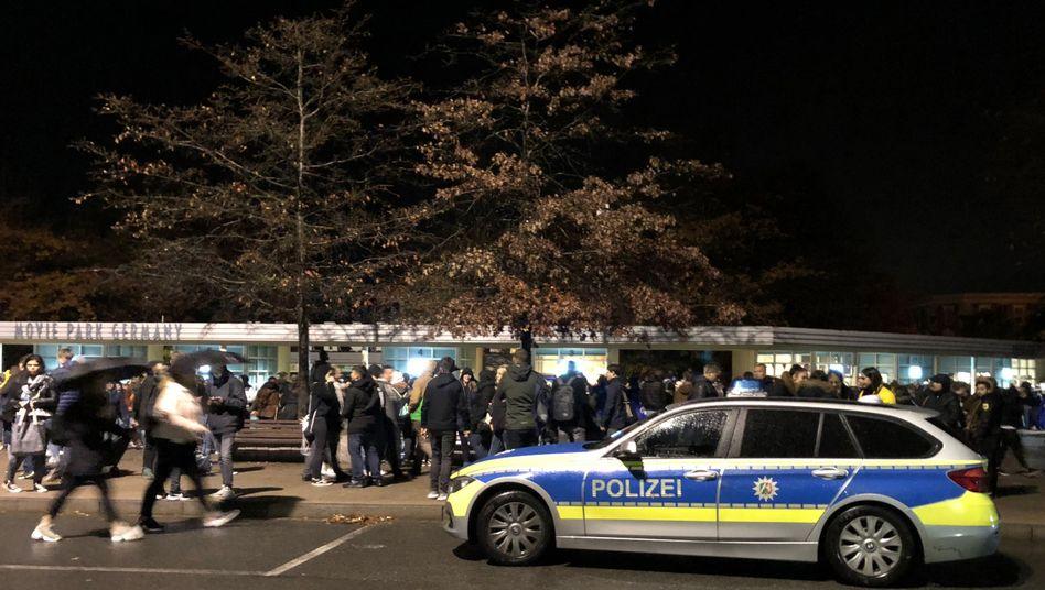 Polizeieinsatz am Movie Park Germany (im Oktober 2018)