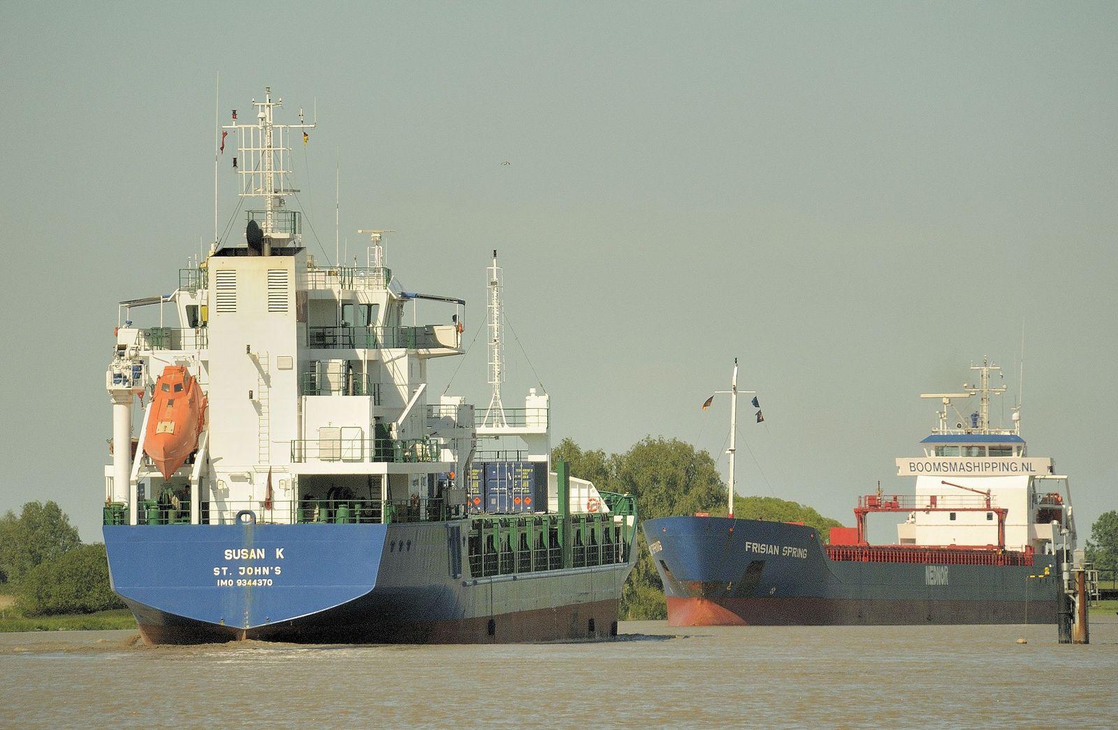 EINMALIGE VERWENDUNG Frachtschiff Susan K/ Sonja