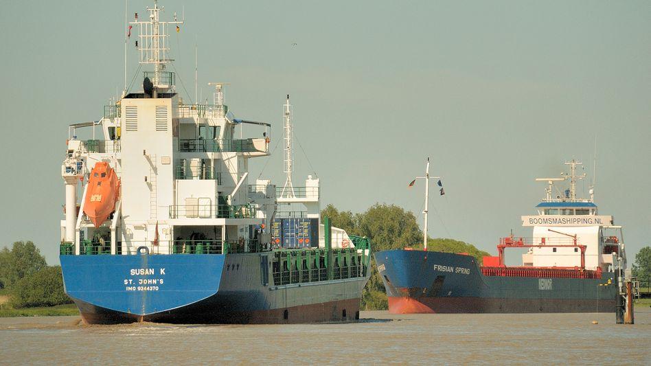 """Frachter """"Susan K"""" (Archiv): 2011 war das Schiff in der Hand von Piraten"""