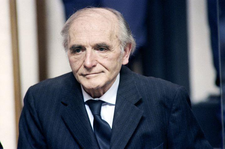 Klaus Barbie, 1987 vor Gericht in Lyon