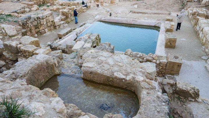 Jerusalem: 1500 Jahre alter Pool mit Springbrunnen entdeckt