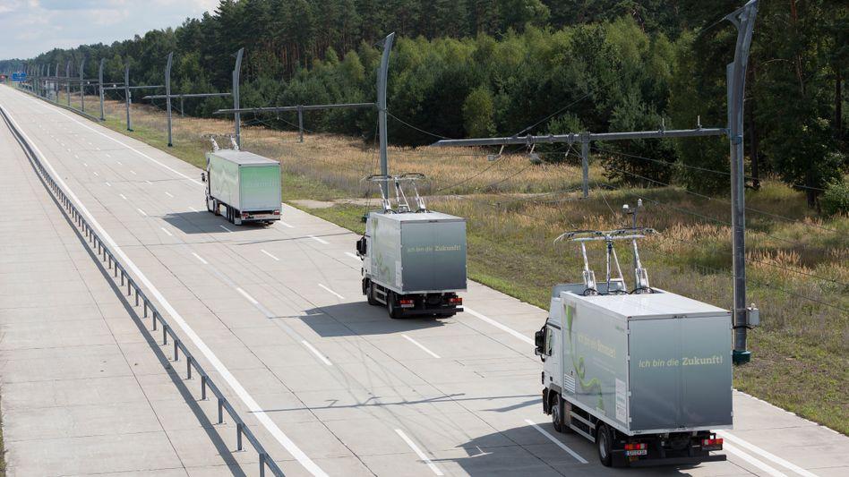 Test-Lkw in Brandenburg