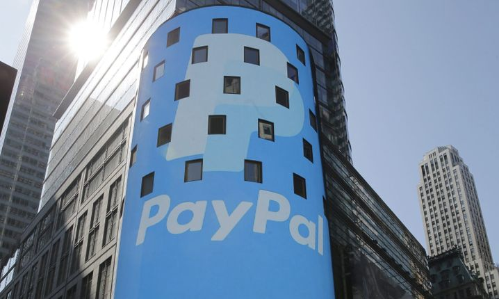 Logo von Paypal am Times Square in New York (Archivbild)