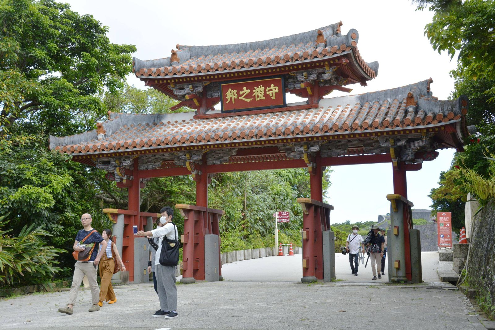 Japan s travel subsidy campaign begins Few people are seen near Shuri Castle in Naha, Okinawa, on July 22, 2020. Japan s