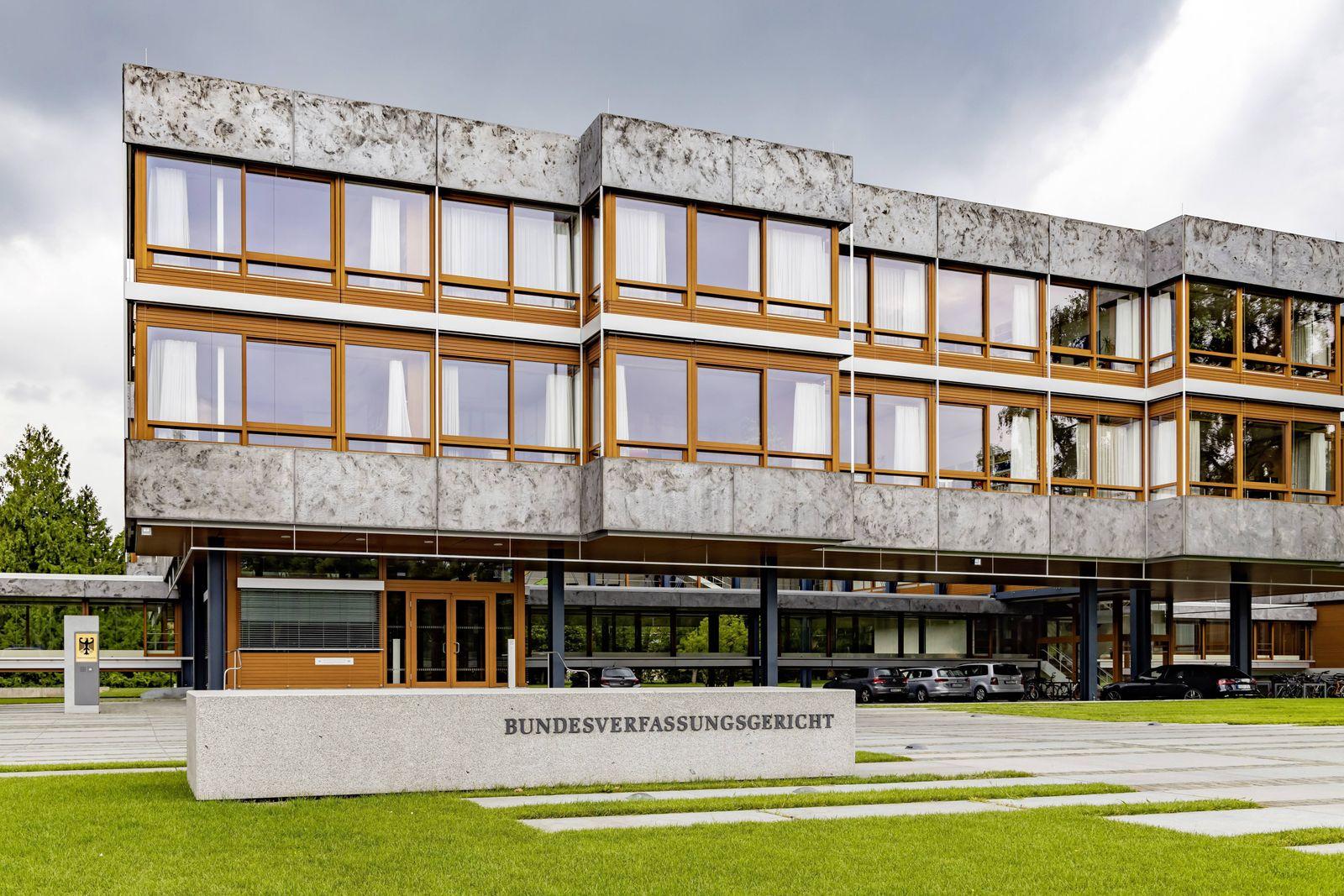 DEU, Deutschland, Baden-Württemberg, Karlsruhe, 04.08.2019: Bundesverfassungsgericht (BVerfG) in Karlsruhe. *** DEU, Ge