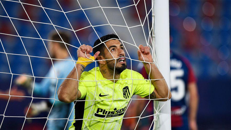 Er findet das Netz: Luis Suárez hat in dieser Saison bereits 16 Mal für Atlético getroffen