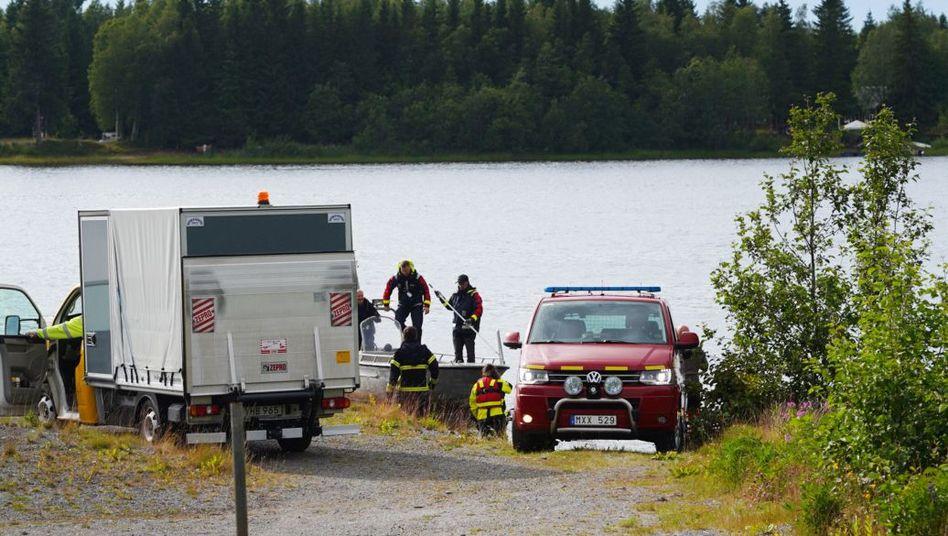 Unfallort in der Nähe von Umea