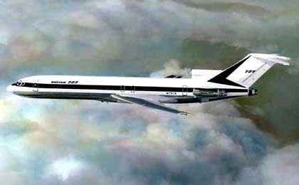 Ein Flugzeug diesen Typs ist verschollen. Nach der Boeing 727 fahndet mittlerweile auch Interpol