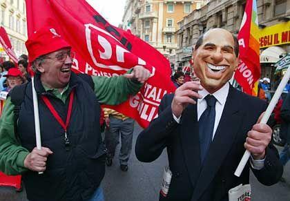 Protestveranstaltung gegen Berlusconis Rentenreform
