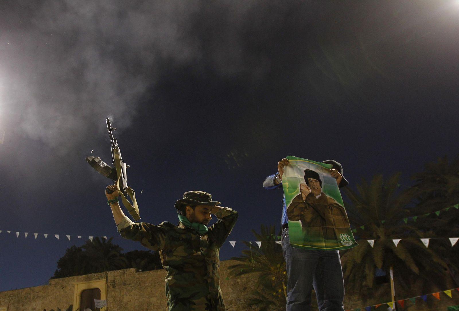 Libyen Sonntag Gaddafi-Anhänger