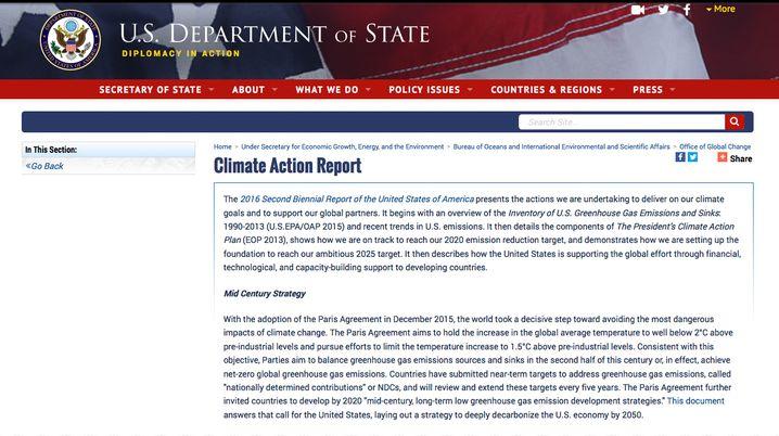 Diesen Hinweis auf der Seite des Außenministeriums gibt es nicht mehr