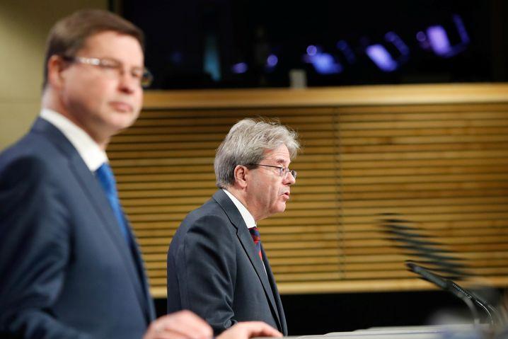 EU-Kommissare Dombrovskis, Gentiloni: Ringen um die Zustimmung der Mitgliedsländer zum Corona-Wiederaufbaupaket