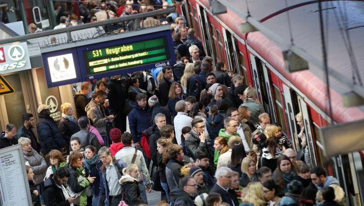Bahnstreik: Pendler stark betroffen