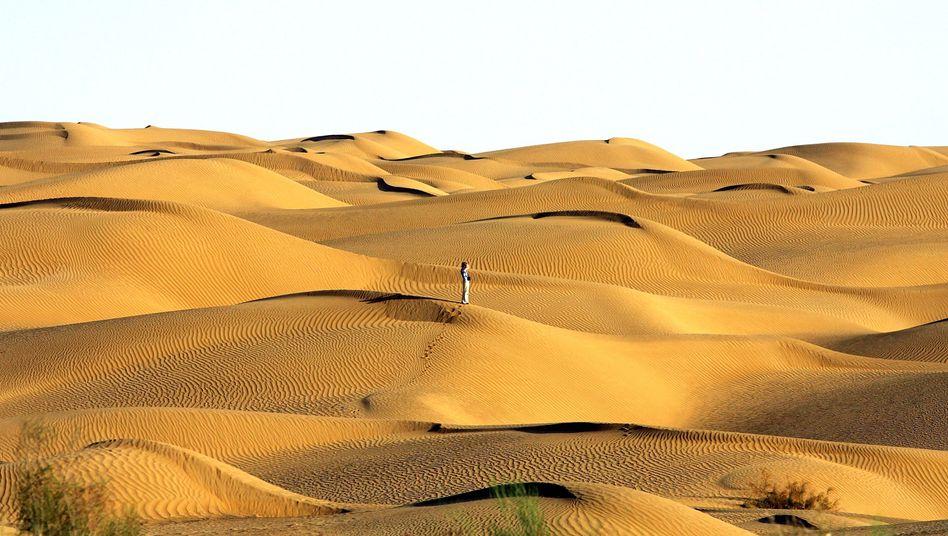 Da kann man sich leicht verlaufen: Die Taklamakan-Wüste in Chinas nördlicher Provinz Xinjiang verändert ihre Dünen ständig