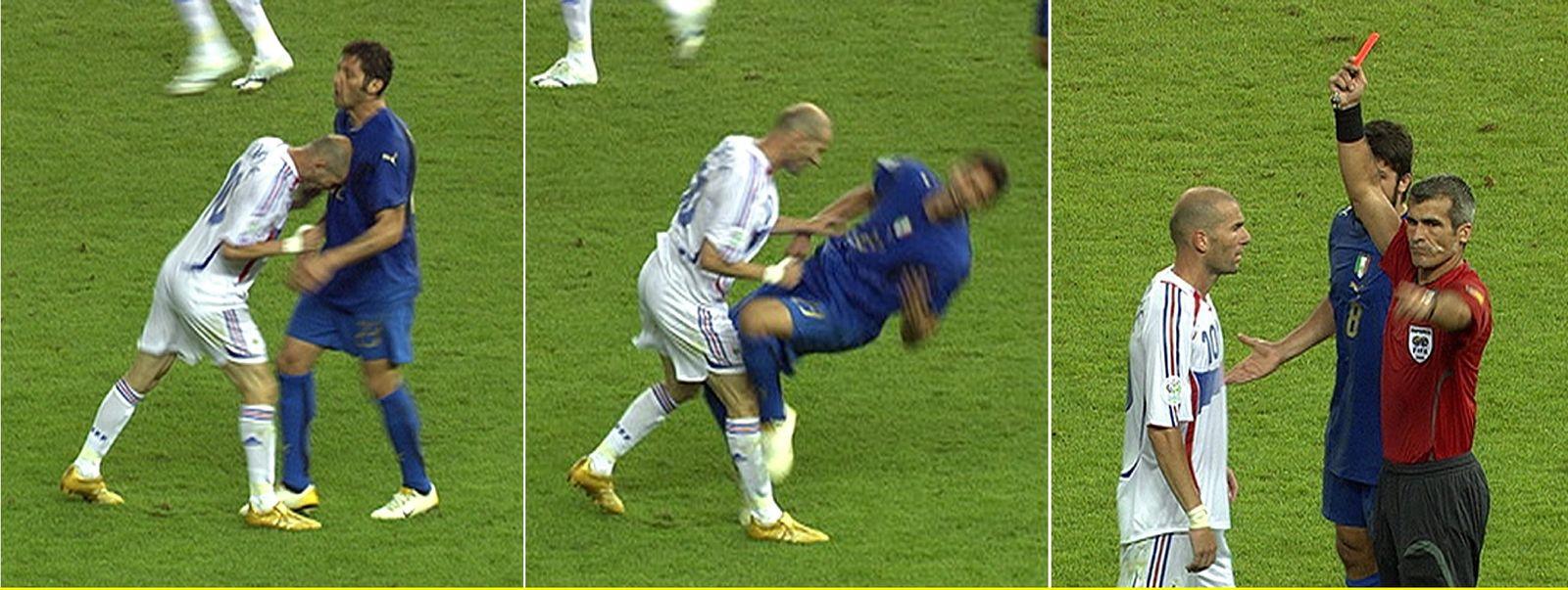 Zinedine Zidanes/ WM-Kopfstoß