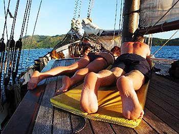 """Das kleine Paradies der """"Sea Pearl"""": Relaxen auf dem Sonnendeck"""