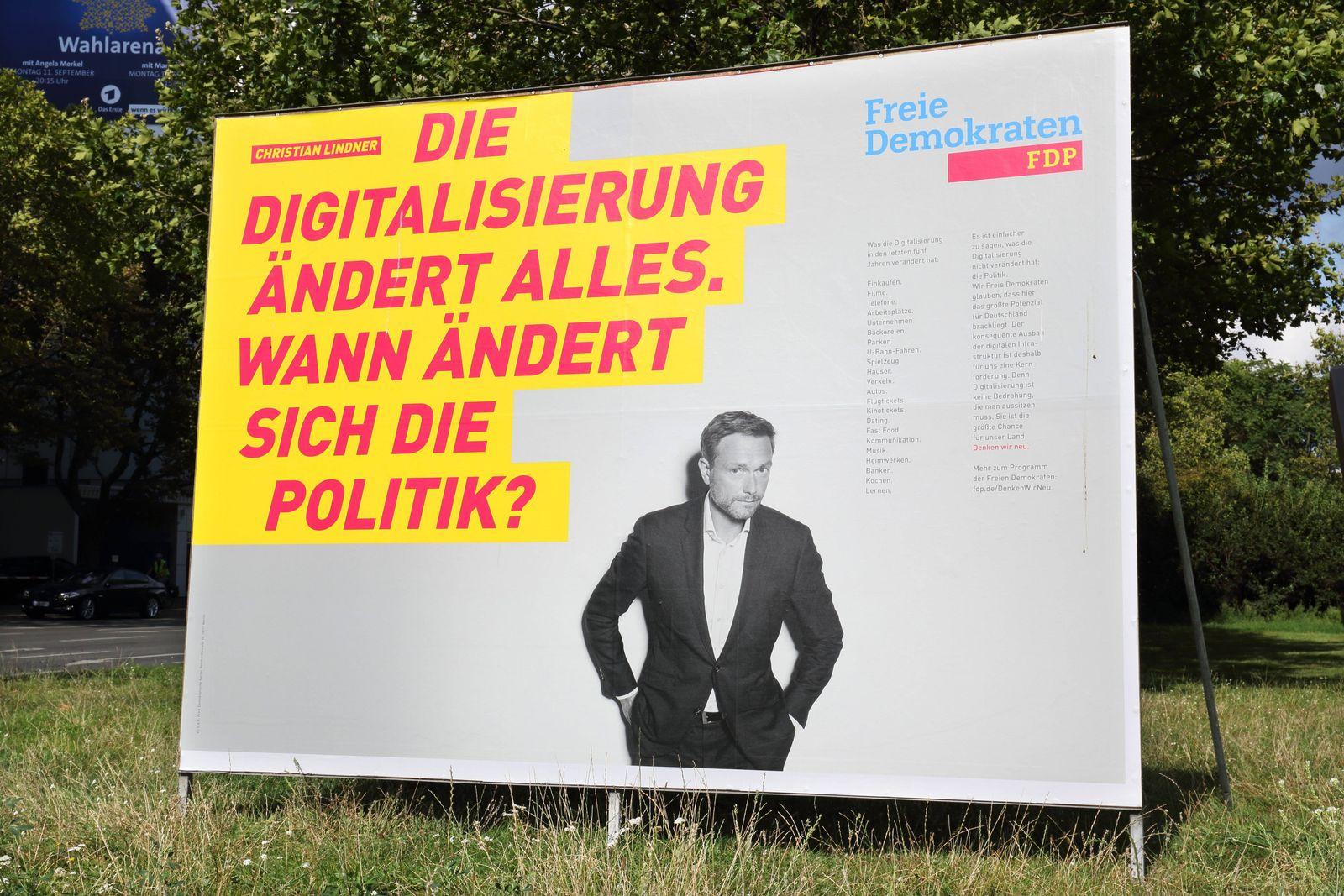 EINMALIGE VERWENDUNG Wahlplakat FDP